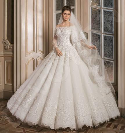 Gracye Classic Satin Wedding dress Milk   Devotiondresses.com