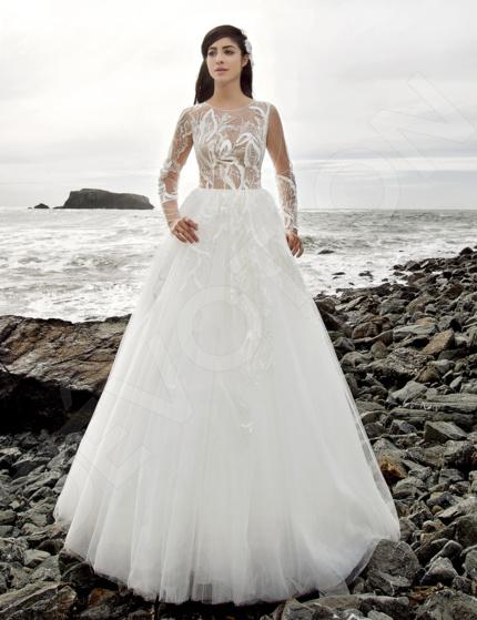 Modern lace spanish wedding dresses   Devotiondresses.com