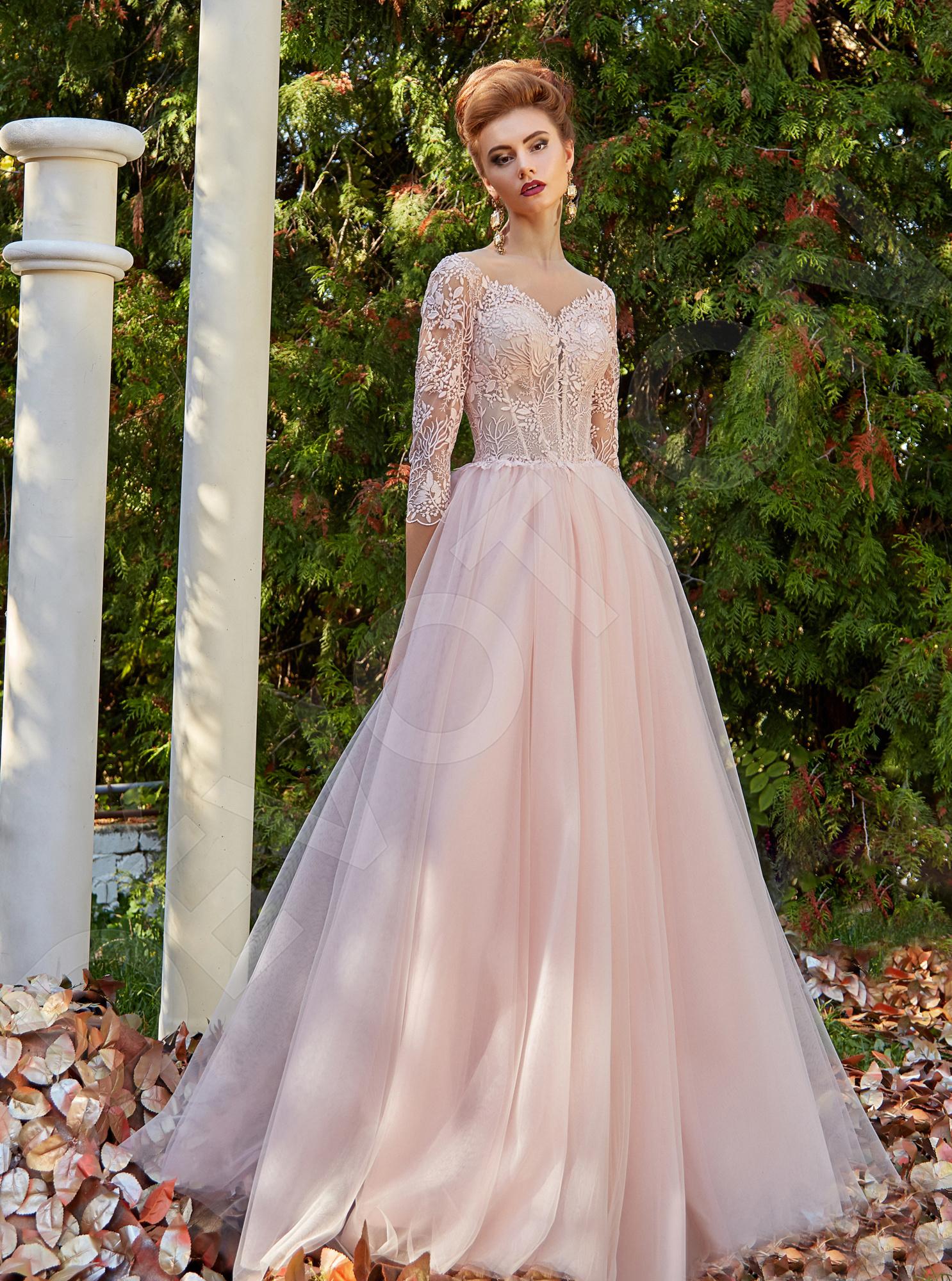 Amaranta Modern Tulle Evening dress Powder  ba25e1503
