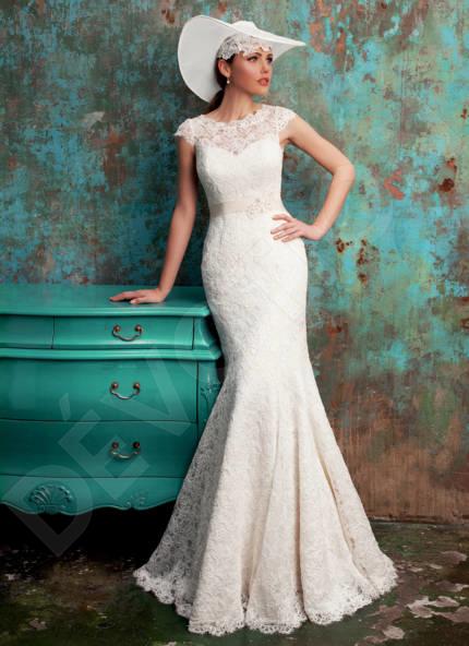 Lace spanish mermaid wedding dresses   Devotiondresses.com