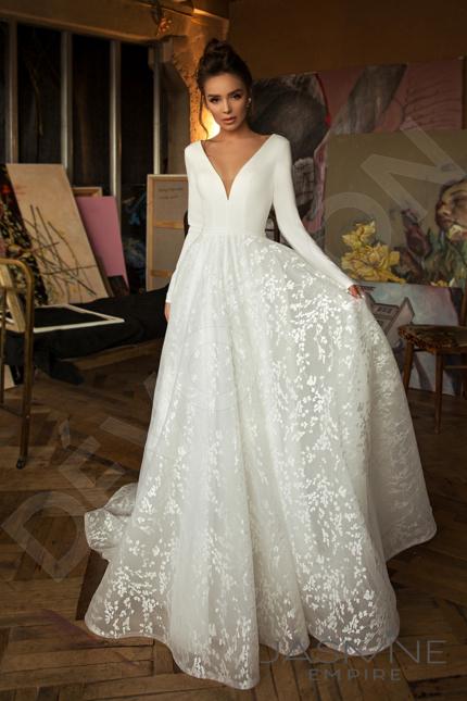 Bonna Elegant Guipure Wedding Dress Milk Devotiondresses Com